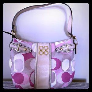 Coach mini multi colour bag